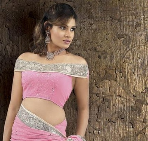 Saree Blouse Designs-Off Shoulder Blouse 2