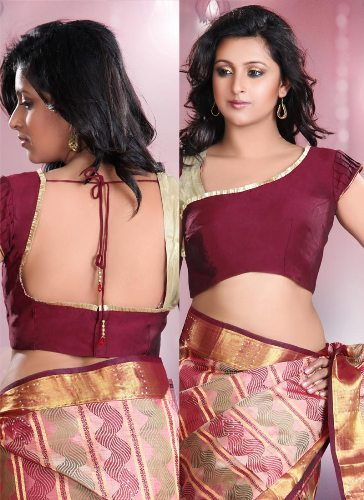 7ec4b9b3c1927 45 Fabulous Blouse Designs for Different Sarees of India