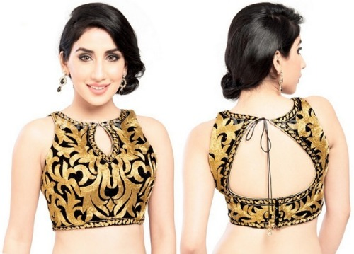 Saree Blouse Designs-Tiger Print Blouse 26