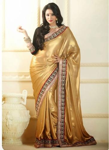 Shiny Golden Saree 10