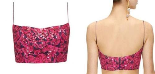 Simple Floral Blouse neck design