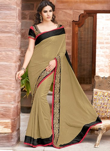 Simple Saree with Black Border 9