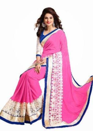 Surat Sarees-Baby Pink Surat Saree 8
