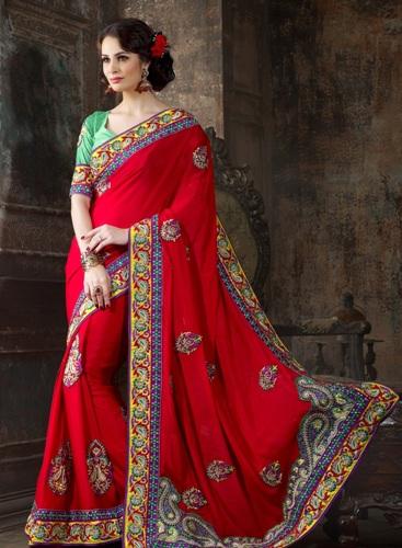 Surat Sarees-Fancy and Trendy Surat Saree (red) 10