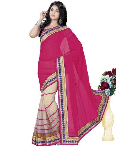 Surat Sarees-Tex Pink Saree From Suart 14