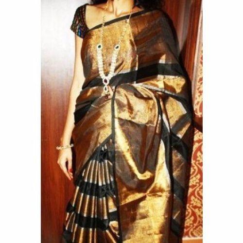 Uppada Sarees-Black and Golden Uppada Saree 14