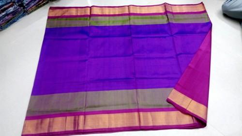 Uppada Sarees-Blue And Purple Uppada Saree 13