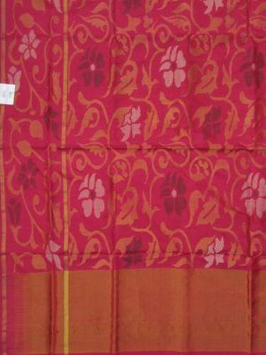 Uppada Sarees-Light Weight Pink Uppada Saree 12
