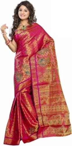 Uppada Sarees-Red Artistic Silk Saree 19