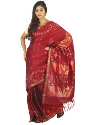 Uppada Sarees-Red Uppada Designer Saree 10