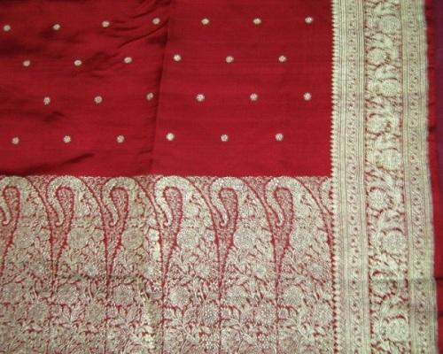 Varanasi Sarees-Red Varanasi Saree Design 1