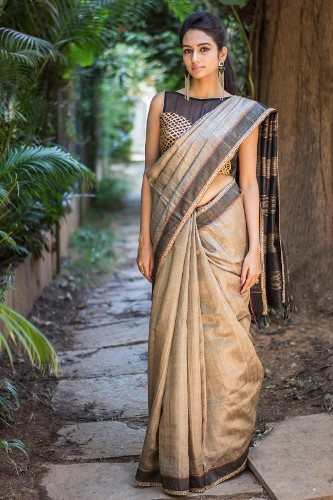 Wedding Blouse Design For Silk Sarees-Black Designer Blouse For Silk 8