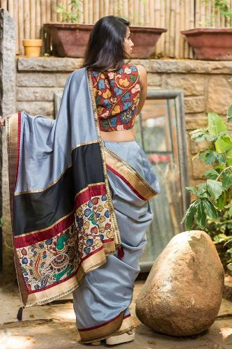Wedding Blouse Design For Silk Sarees-Colorful wedding Blouse Design 7