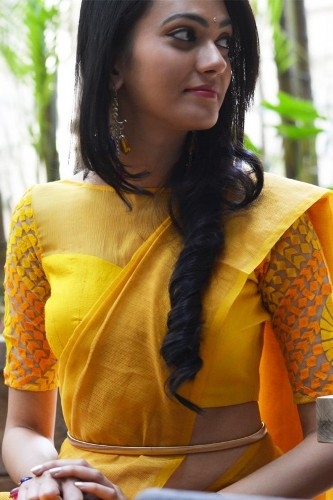 Yellow Blouse Designs-The Alluring Yellow Blouse 1