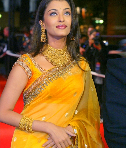 Yellow Blouse Designs-The Celebrity Blouse Design 2