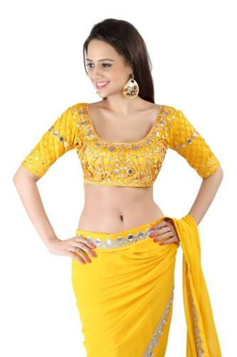 Yellow Blouse Designs-The Short Shirt Yellow Blouse Design 4