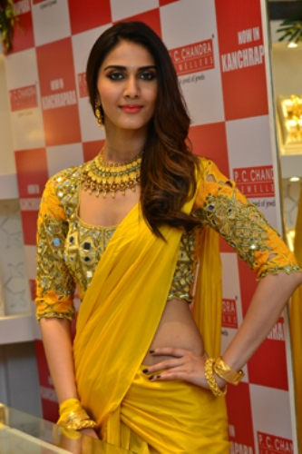 Yellow Blouse With Shiny Attachments 9