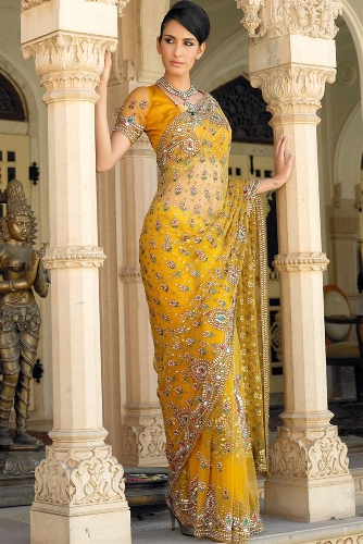 Yellow Sarees-Best Yellow Saree 1