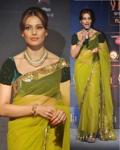 Yellow Sarees-Lemon Yellow Saree 13