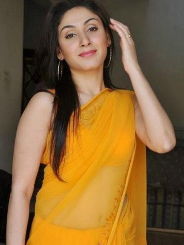 Yellow Sarees-Punjabi Yellow Saree Deign 11