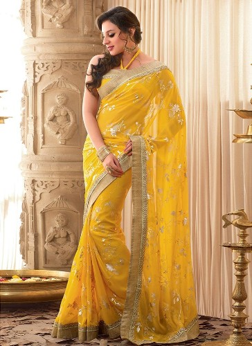 Yellow Sarees-Ravishing Yellow Saree 2