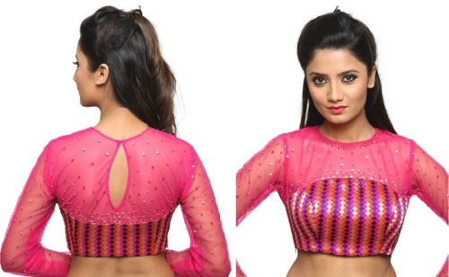 21 Perfect Blouse Neck Designs That Looking Simple And Gorgeous