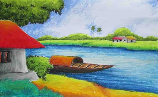 Types of painting styles in india look on some realistic for Simple paintings to draw