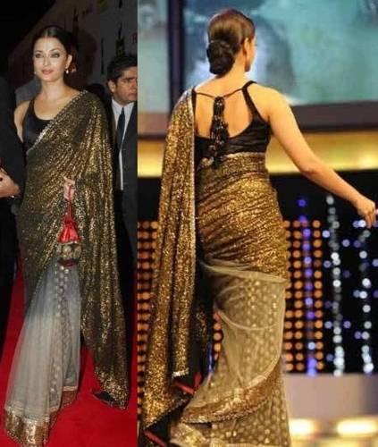 Black Bollywood Elegant Saree