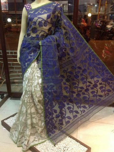 Blue And White Jamdani 5