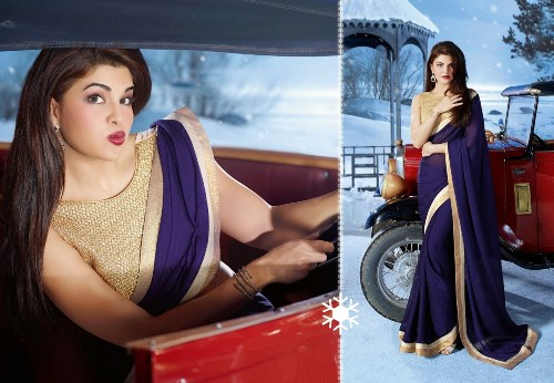 Bollywood Sarees-Charming navy Blue Party Wear Bollywood Saree 12