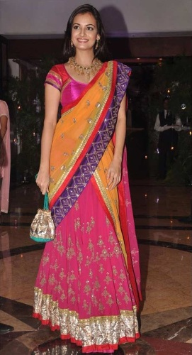Bollywood Sarees-Colorful Heavy Embroidered Bollywood Saree 14