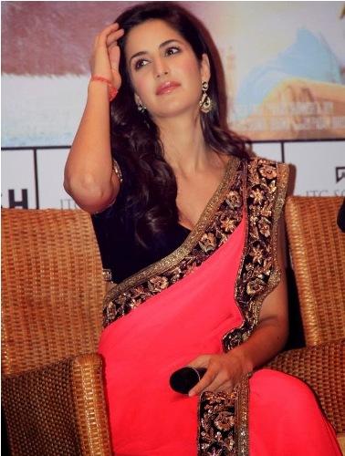 Bollywood Sarees-Pink Wedding Bollywood Saree 5