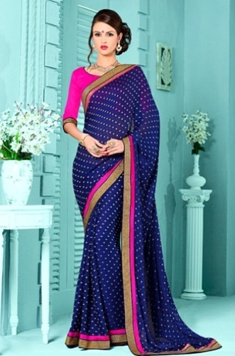 Cotton Sarees-Blue Cotton Saree 22