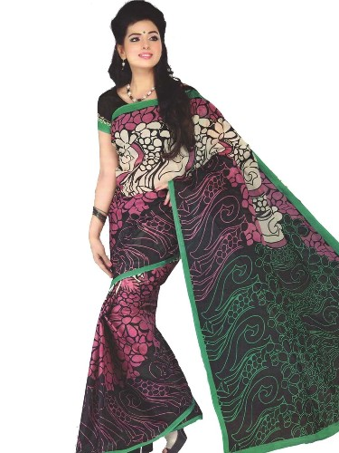 Cotton Sarees-Flora Pattern Indian Cotton Saree 13