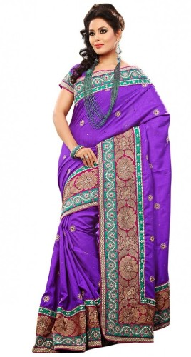 Embroidered Bollywood Saree