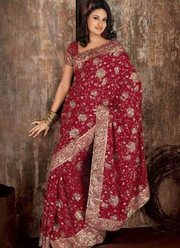 Embroidery Sarees-Embroidered Vadodara Saree 4