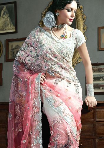 Embroidery Sarees-Heavy Embroidered Saree 8
