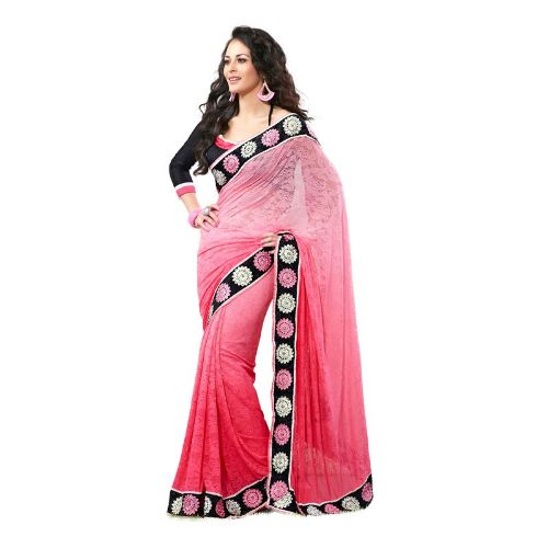 Embroidery Sarees-Light Pink Saree 5
