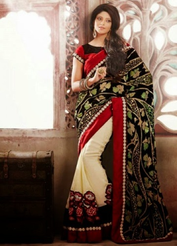 Embroidery Sarees-Trendy Embroidery Saree 12