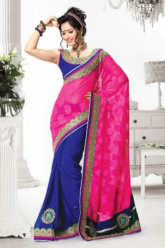 Fancy Sarees-Alluring Pink Fancy Saree 22