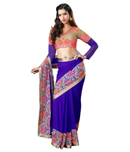 Fancy Sarees-Fancy Blue Designer Saree 11