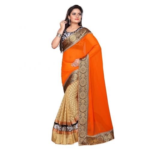 Fancy Sarees-Fancy Orange 5