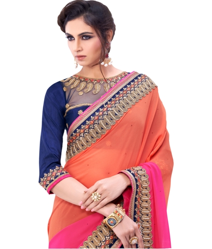 8a52c33ec4d59 30 Elegant Designs of Fancy Sarees and Tips To Wear