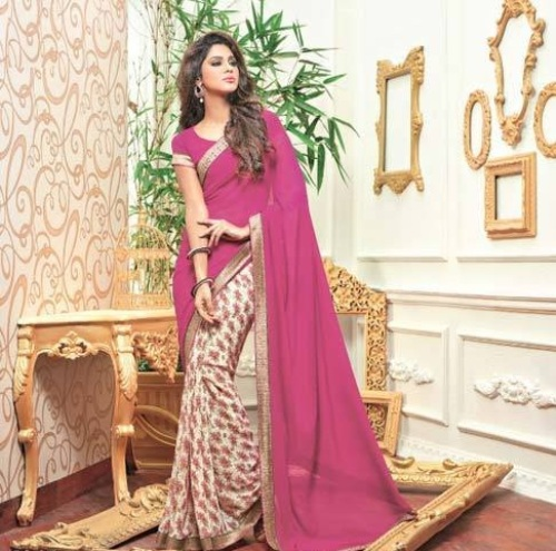 Fancy Sarees-Pink Fancy Allure 8