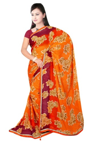 Fancy Sarees-Simple But Fancy Cotton Colorful Saree 13
