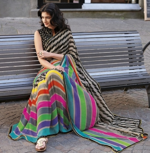 Top 15 Georgette Sarees With Images Styles At Life