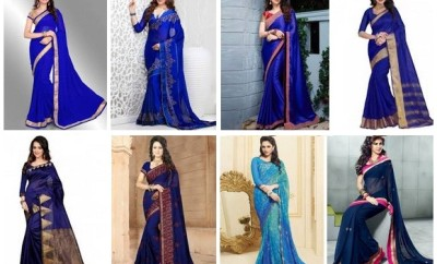 Gorgeous Blue Sarees With Images