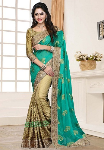 Gorgeous Half Saree Designs 23