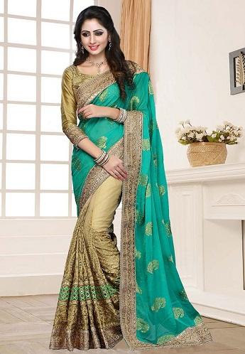 Gorgeous Half Saree Designs 23