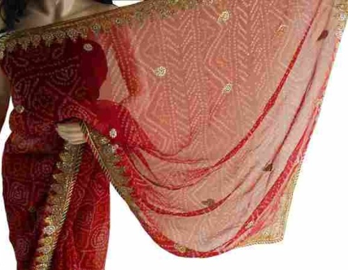 Gota-Work-Sarees-Bhandani-Gota-Patti-Saree-9
